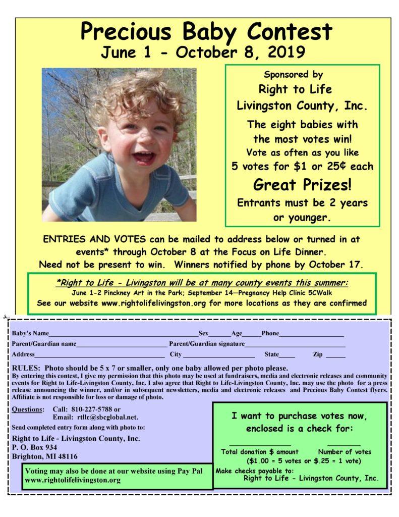Precious Baby Contest Form