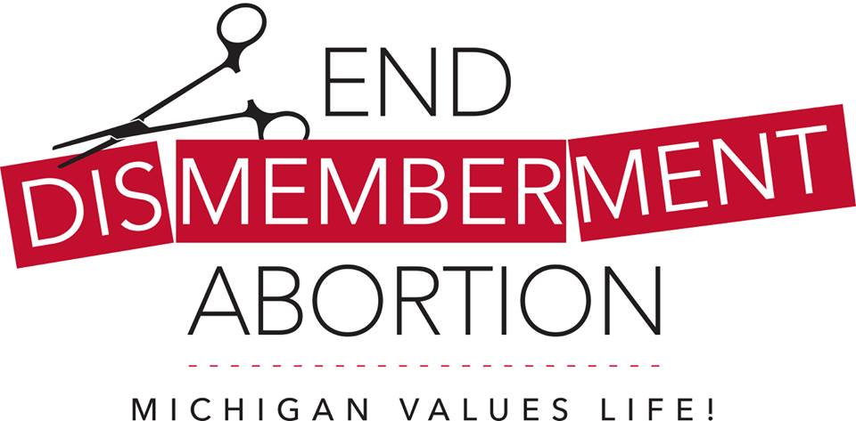 End dismemberment abortion logo
