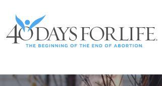40 days for life logo
